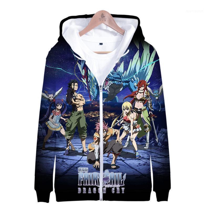 남성의 후드 스웨터 유럽과 미국 후드 ZIP 공장 직접 판매 요정 꼬리 애니메이션 주변 패션 CN (원산지) 1