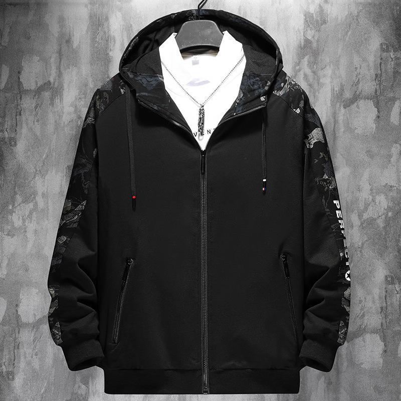 Новая весна осень мужская дизайн одежды повседневная свободная уличная одежда бомбардировщик черный пиджак плюс негабаритный M-6XL 7XL 8XL 9XL 201226