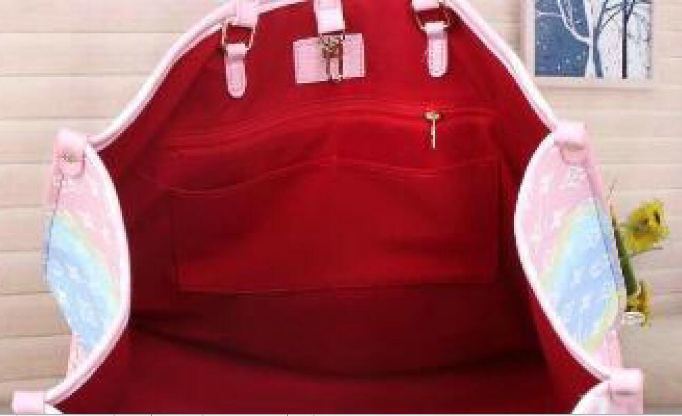 Top Designer Handbag Totes com correspondência Pouch Womens Bolsa de ombro Verão Escale Tote do unicórnio bolsa Pastel Moda