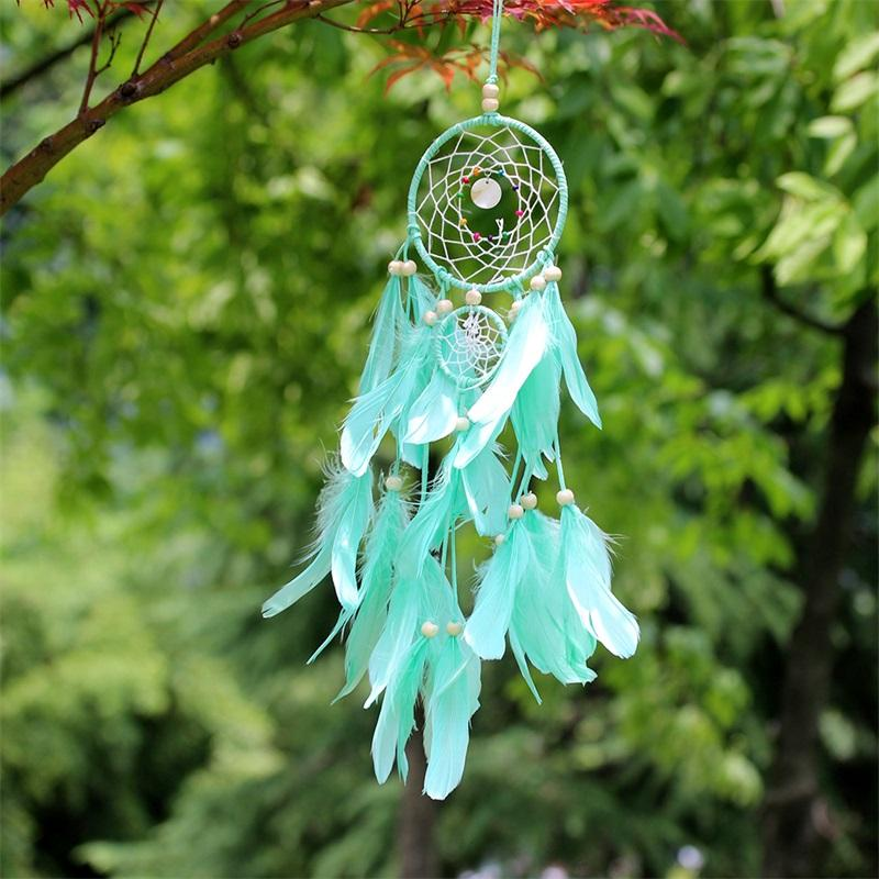Dois anéis de Originalidade Dream Catcher Net Estudo da parede da sala Hanging Wind Chime Pendant Simplicidade Decoração Rosa Pingente de alta qualidade 10ms M2