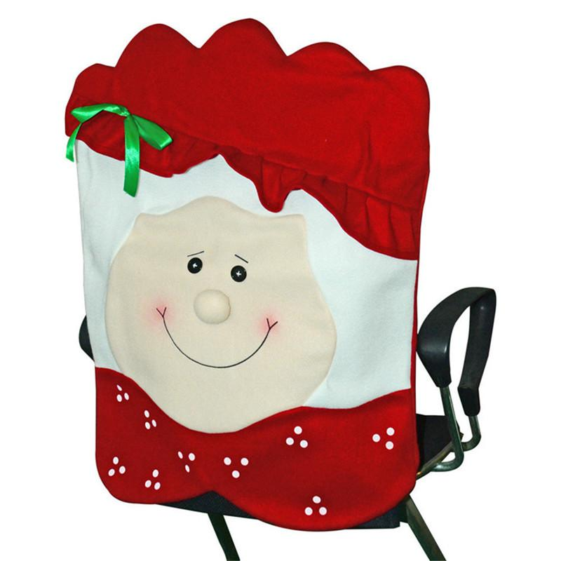 Christmas Chair Cover Man Woman Design Christmas Dinner Chair Back Covers Merry Christmas Wedding Chairs Cap GWC2917