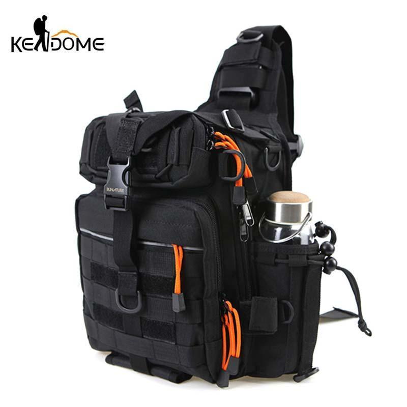 الصدر حقيبة نايلون مقاوم للماء واحد كتف حقيبة للالتنزه الصيد الصليب الجسم في الهواء الطلق التكتيكية الرياضة الرافعة X219D