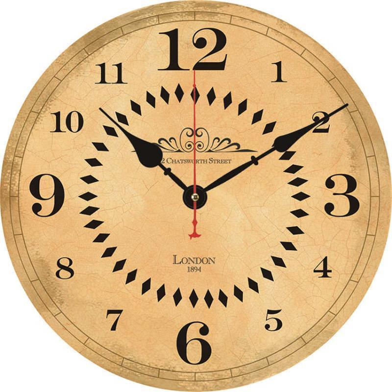 """تصميم غير تدفق 16 """"الأرقام العربية على مدار الساعة الحائط، - بطارية تعمل على مدار الساعة الحائط مقهى مقهى ساعات صامتة"""