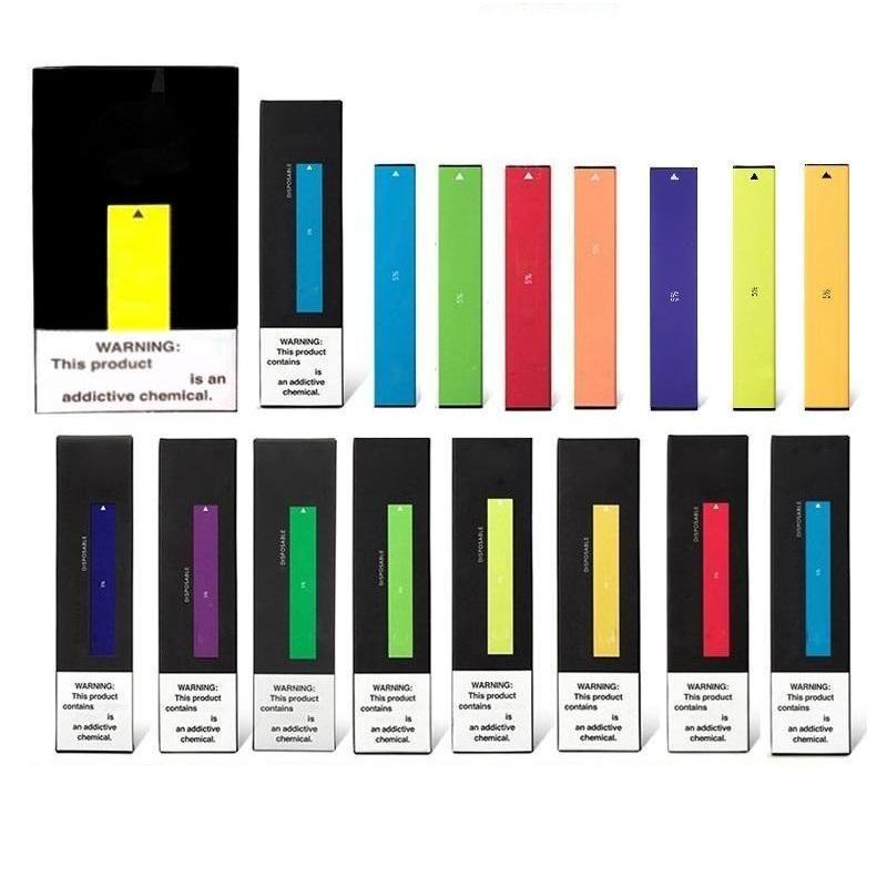 100% Original Puff Bar Disposable Vape Pens Capacity 1.3ml Vape Cartridges Puff 280mah Battery Kit Vapes display box 25 colors DHL