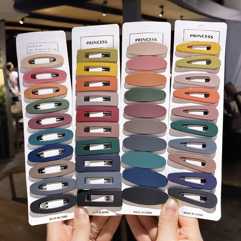Moda BB Barrettes Kadınlar Için Set Kızlar Şeker Renk Saç Klip Tokalar Metal Barrette Styling Araçları Saç Aksesuarları Kimter-C210FZ