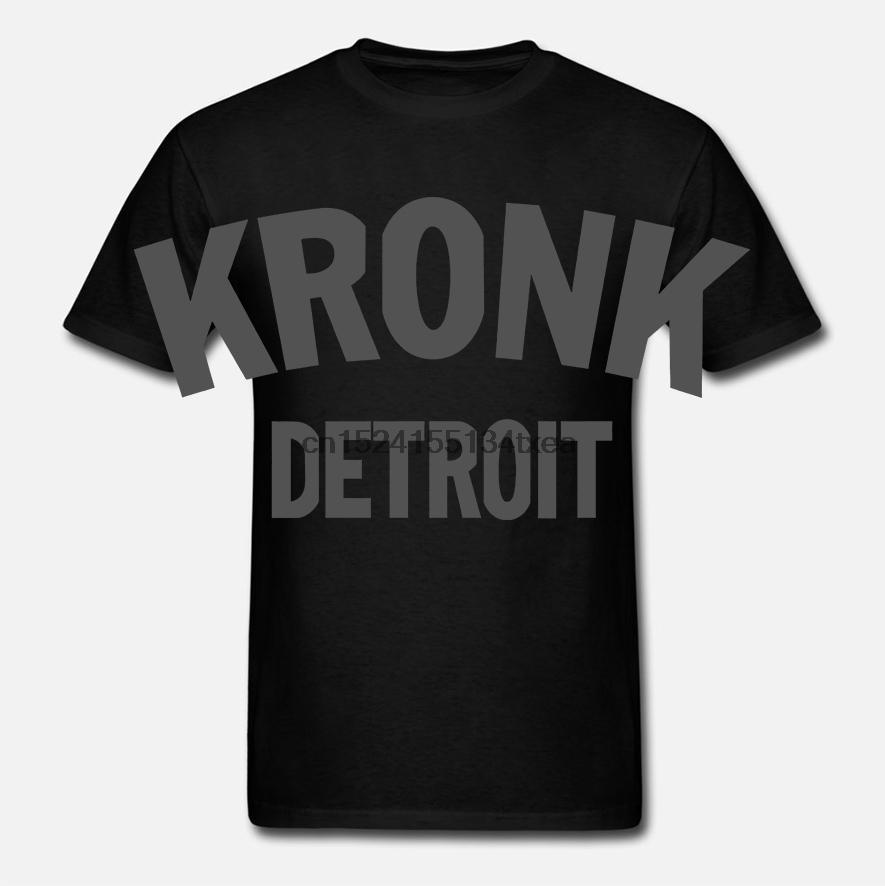 Kronk Detroit Mens Boxing T-shirt Regular Sport Fit bianco grigio scuro con cappuccio Felpa con cappuccio