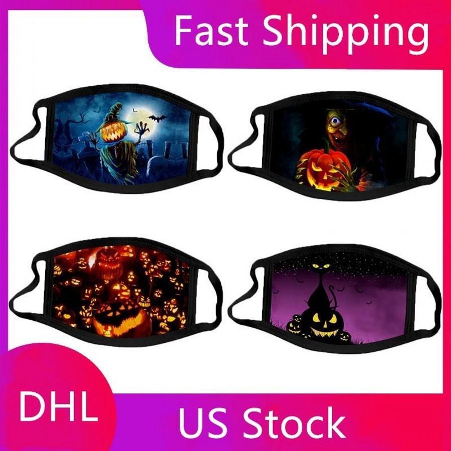 Взрослый Хэллоуин тыквы луны партии маска 3D партия Маска Магия клоуна маской Защита лицо Маски моющихся многоразовые маски для лица с фильтром