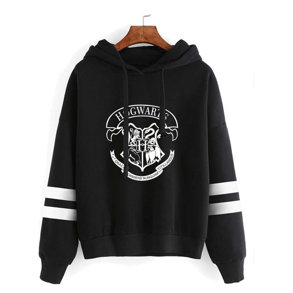Chándal ocasionales de los nuevos Streetwear hombres / mujeres camiseta de Hip Hop Sudaderas marca de ropa de Hogwarts con capucha niños / niñas Tops