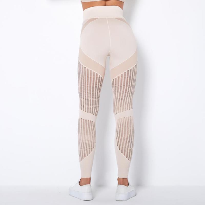 Sexy Net Hole Carry Buttock Sports Fitness Leggings Autumn Winter Underwear Gym Clothing Woman High Waist Seamless Leggins HOT