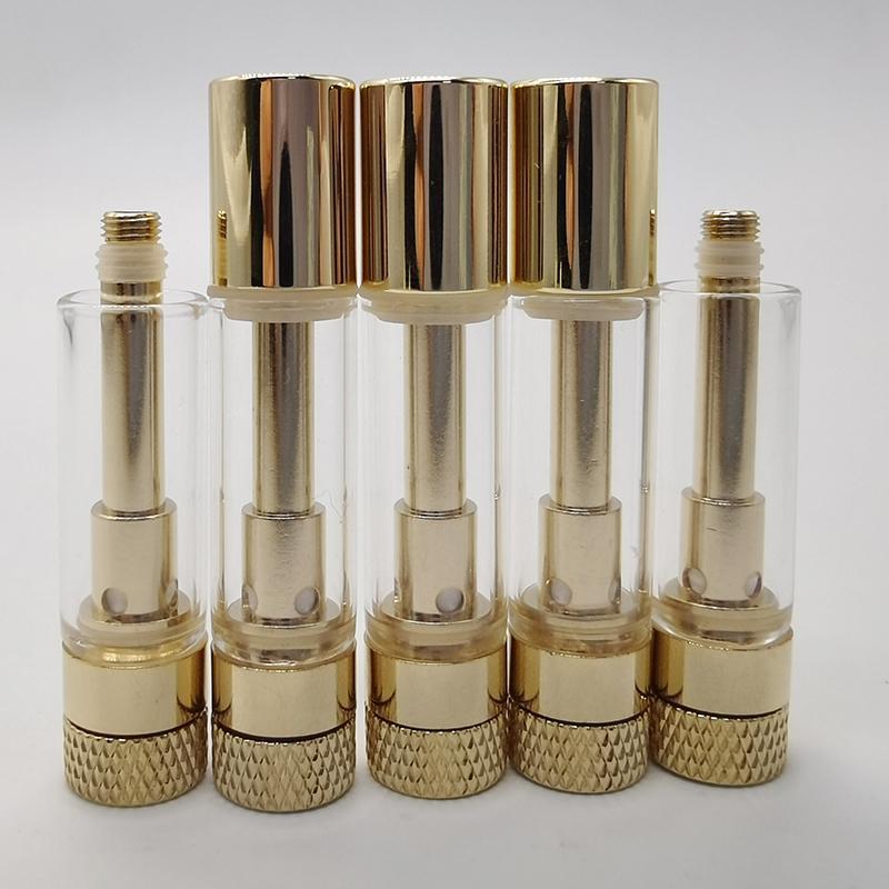 MM Картриджи Пустые Vape Pen Золотой испарителем 0,8 мл Тележки Керамические Coil Масляные 1.6mm * 4 отверстия Atomzier Gold Tank электронные сигареты с коробкой упаковки