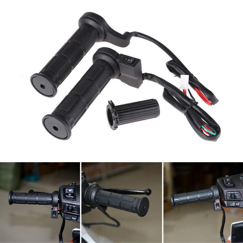 Guidão motocicleta 22mm mão elétrica aquecida apertos moldados de ATV aquecedores aquecedores de automobilização punho guidão conjunto