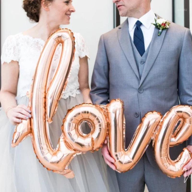 Rose or / argent / rouge / rose giant gant ballon script fête de mariage ballon de mariage projecteur de la Saint-Valentin de la Saint-Valentin décorations1