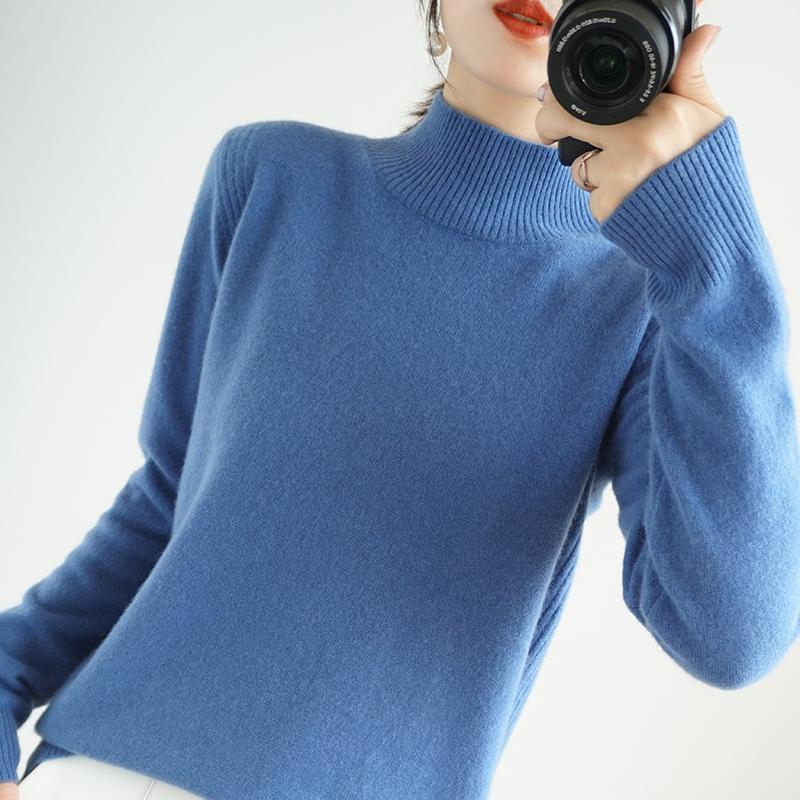 High-End осень зима 100% кашемировый свитер водолазки Женский Женские Сыпучие Большого размера Вязаные девушки одежда Tops 7 цветов Jumpe