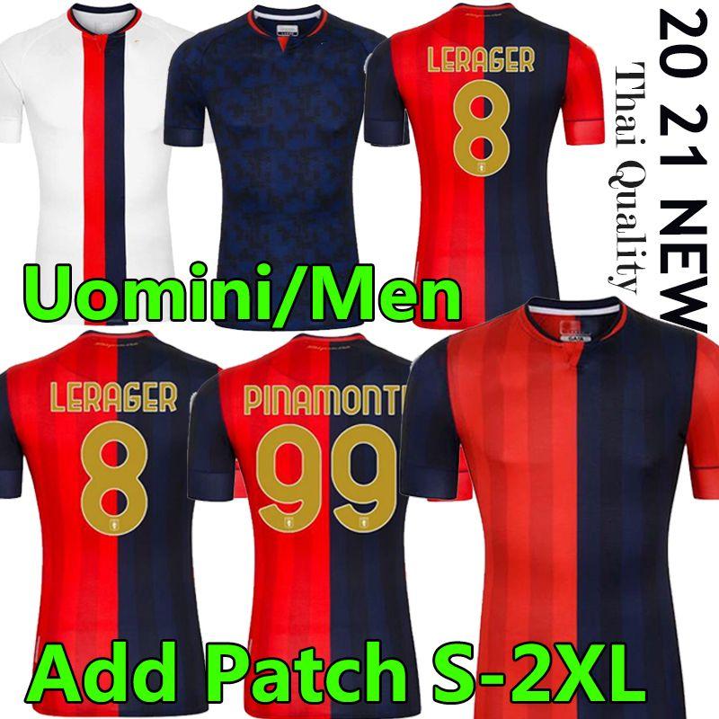Gênes CFC Soccer Jerseys Home 2020 2021 Maglie da Calcio Gumus Kouame Romero Sturaro S. Pinamonti Shirts Football 20 21