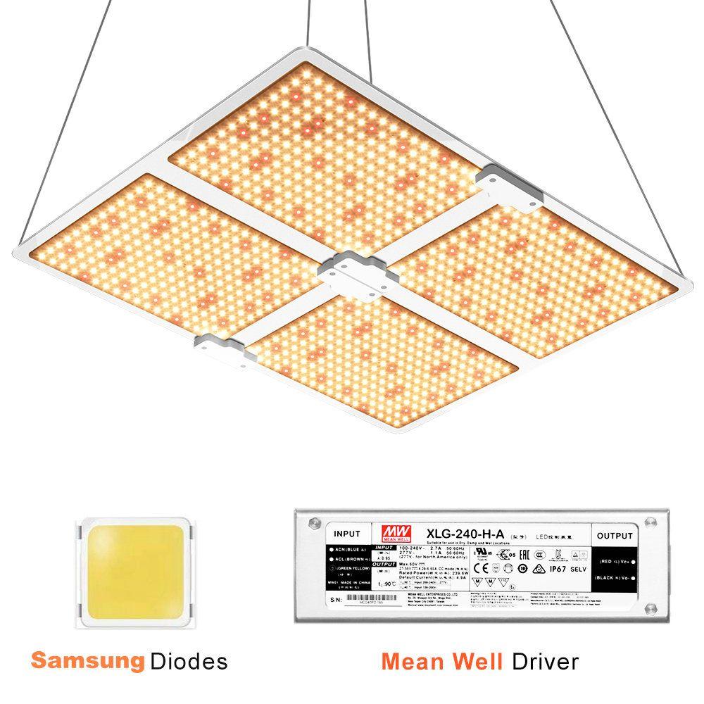 Spectrum completo Samsung LED crescer luz 4000w 3000k + 5000k + 660nm + planta de lâmpada de fluxo de fluxo liderada com motorista de meandwell
