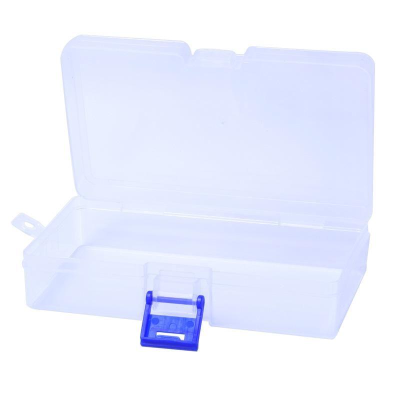 Nähwerkzeuge Zubehör Klarer Kunststoffkomponenten Box Nail art Tipps Aufbewahrung Gitterbox Fall Kosmetik Handwerk Organizer Container Fall