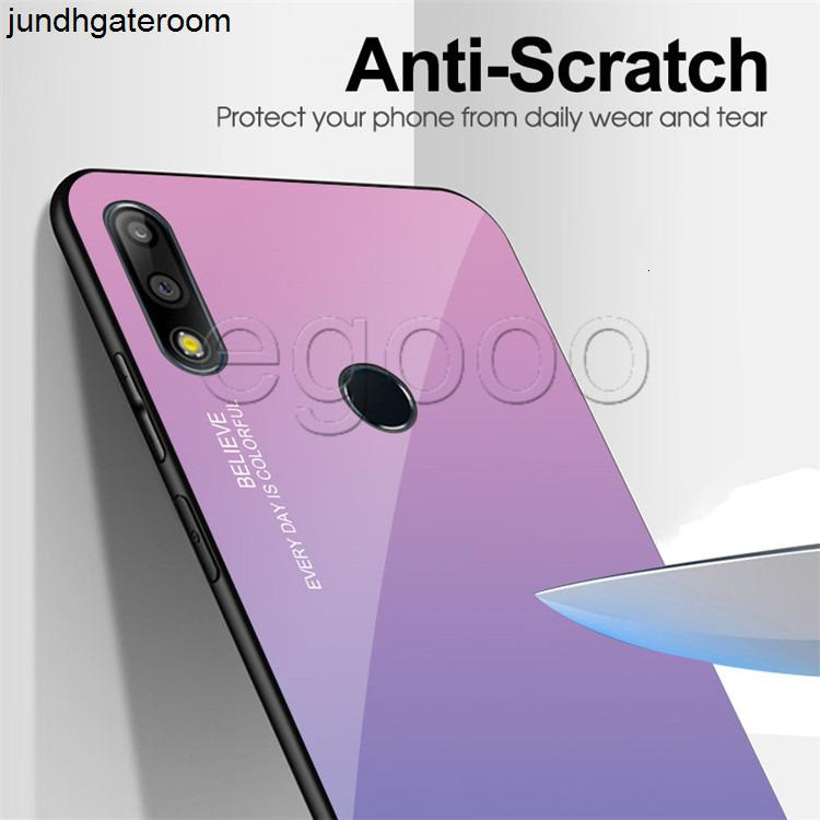 Factory841Color Закаленный стеклянный корпус с мягким градиентом TPU край для телефона 11 XS MAX XR Huawei Mate 20 P Smart Sanstar S8 S9 S10 J7