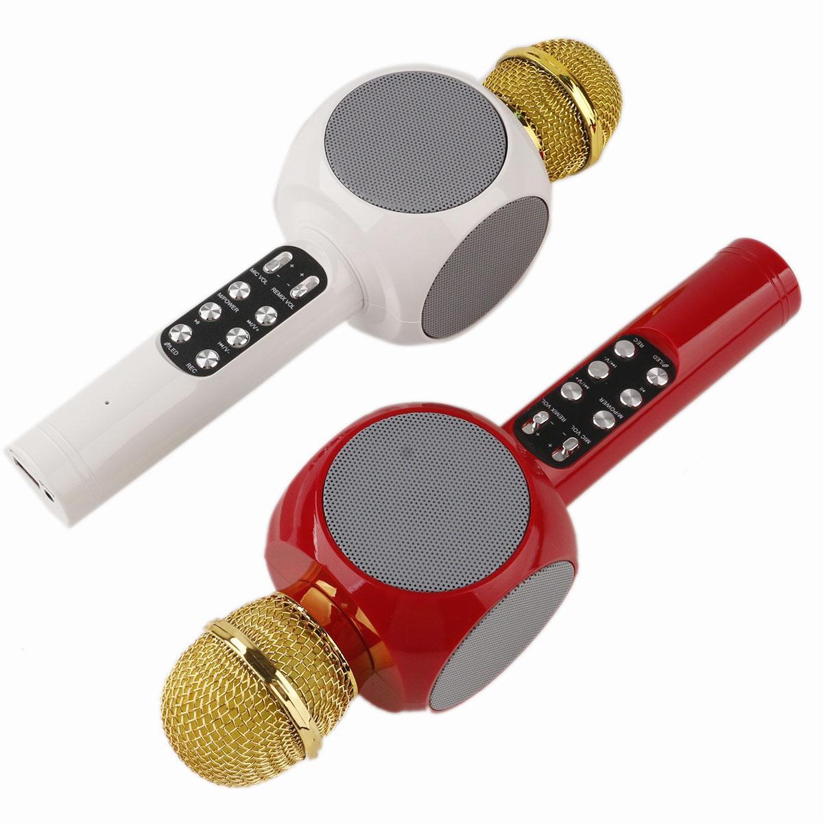 جديد WS-1816 WS1816 بلوتوث ميكروفون الصمام الخفيفة المحمولة المحمولة اللاسلكية ktv karaoke مشغل مكبرات الصوت KTV مع مكبر الصوت ميكروفون للهواتف