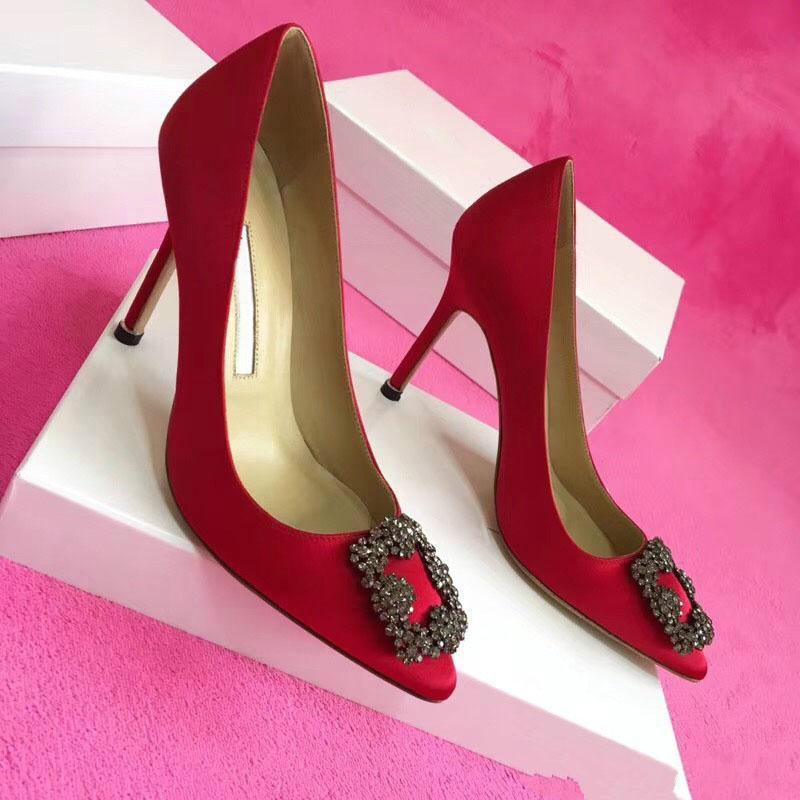 2020 üksek kalite Parti Düğün Ayakkabı Gelin Kadınlar Bayanlar Sandalet Moda Seksi Elbise Ayakkabı Sivri Burun Yüksek Topuklar Deri Glitter Pu
