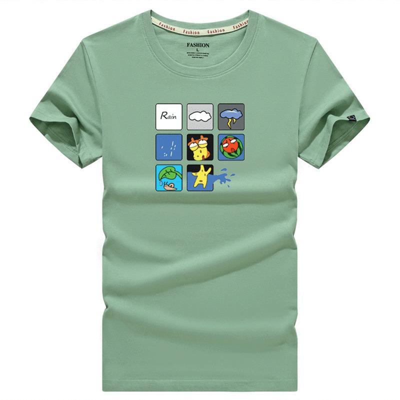 100% хлопок Летний бриз печати смешные мужчины о-образным вырезом рубашки мужская мода топы мужчин футболки мужчин прохладно тенниска мужчина тройника рубашки