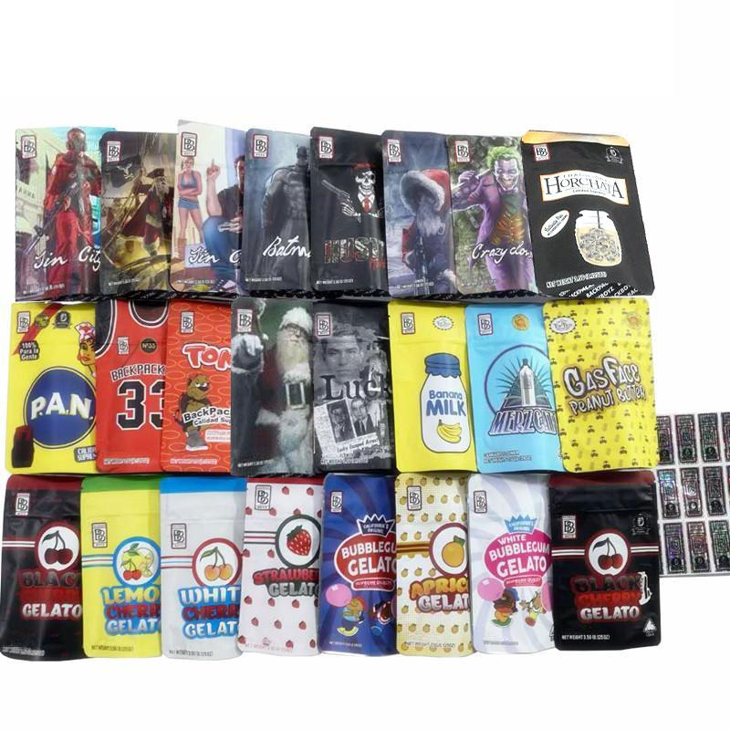 BB Borsa 3.5G BAGNA MYLAR 24 tipi AMPIORIO TOMYZ MERZCATO Zaino Boyz 33 Lucky 420 Packaging DHL GRATIS