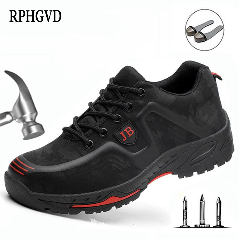 Safety work shoes labor insurance shoes male breathable deodorant steel toe caps anti-smashing anti-piercing site shoes 201019