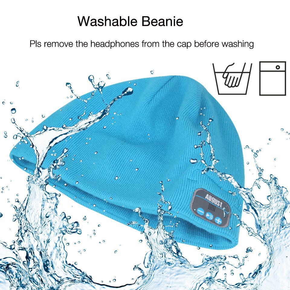 Agosto EPA20 del cappello della protezione del Beanie di inverno con le cuffie stereo Bluetooth, altoparlante e microfono per i telefoni cellulari, computer portatili