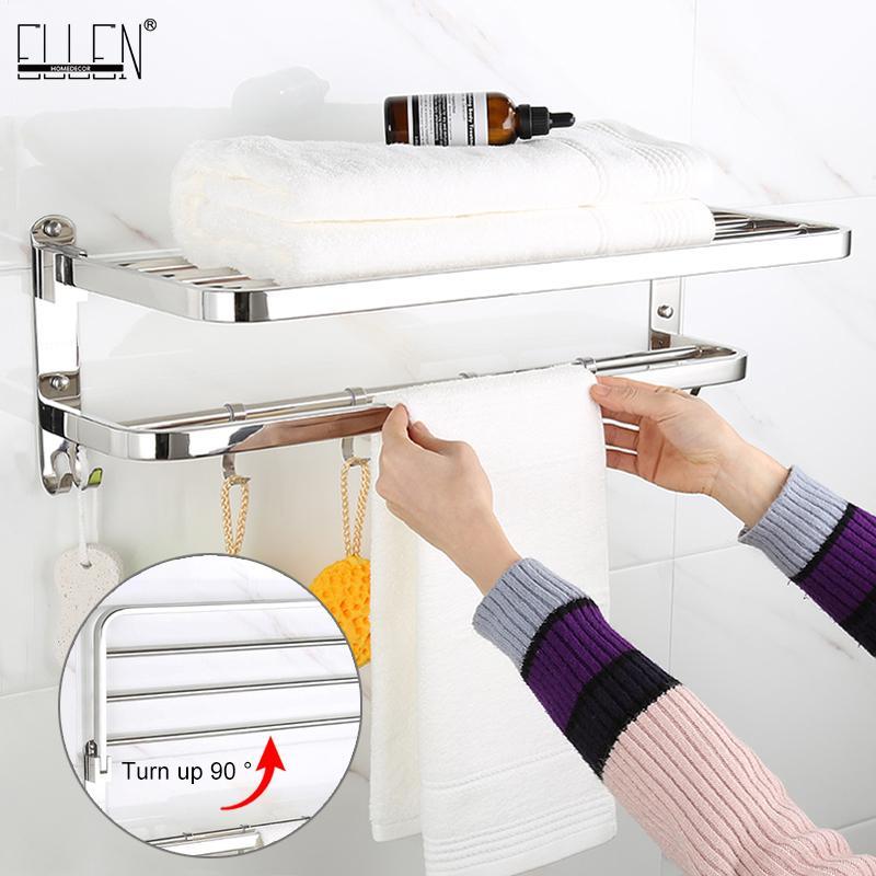 Pieghevole da bagno mobile Asciugamano da bagno 304 Asciugamani in acciaio inox Asciugamani in acciaio inox Porta asciugamano 200923