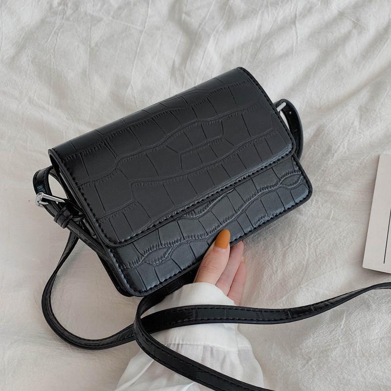 HBP Stone Pattern Mini Borse a tracolla in pelle per donne 2020 Solid Color Spalla Semplice Borsa Semplice Borsa per cellulari di lusso