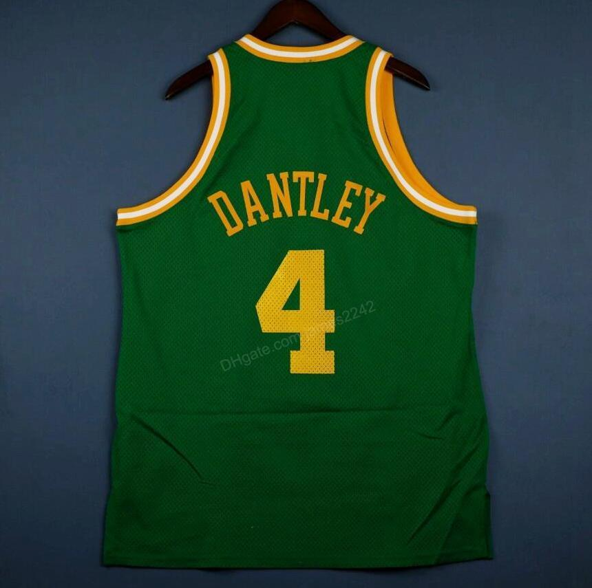Cheap Custom #4 Dantley Basketball Jersey Men's All Stitched Green Any Size 2XS-3XL 4XL 5XL Name Or Number Free Shipping Top Quality