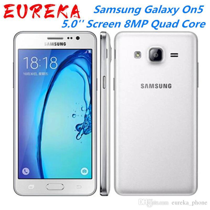 Samsung Galaxy On5 G5500 4G LTE Android Мобильный телефон Dual SIM 5.0 '' Экран 8MP Quad Core Хорошая продажа