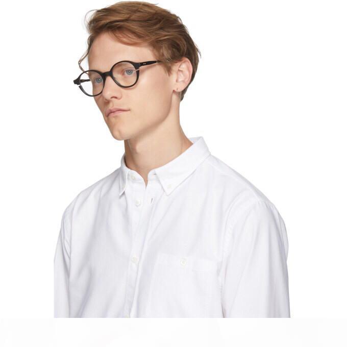 Neue Luxusmode-optische Gläser SIGLO Runde Einfacher Rahmen avantgarde beliebte großzügige beiläufige Art klar Brille Wohnung Licht Brillen