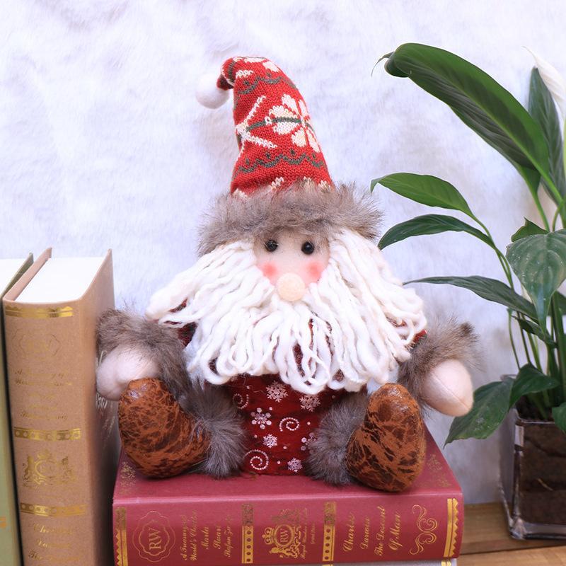 Быстрая доставка Новогоднее украшение кукла творческий подарок коробки детей Рождественский подарок мешок конфеты коробка Рождественские украшения F8902