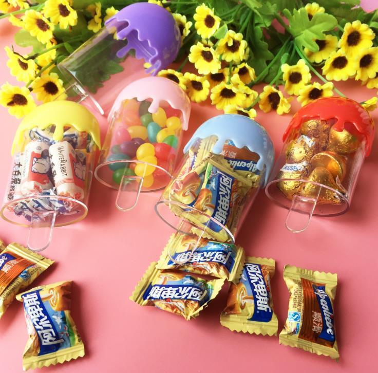 Popsicle Forma encantadora Fiesta de cumpleaños para niños Ducha de bebé Ducha de plástico Caja de regalo Cajas de paquete de regalo Envío gratis SN1907