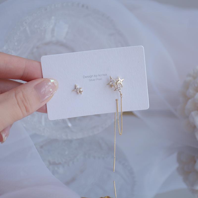 Côté brillant Nouveaux accessoires Cristal Star Stad Boucles d'oreilles pour femmes Mode bijoux élégants Boucles d'oreilles glands irréguliers élégants