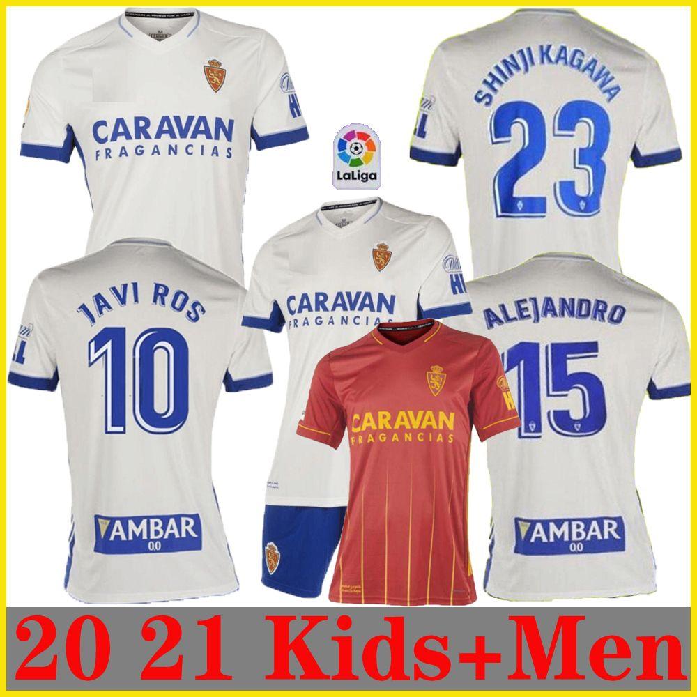 thailand 20 21 Real Zaragoza SOCCER JERSEY 2020 2021 Shinji Kagawa André Pereira Alberto camisetas de futbol Mann Kinder SET-Fußball-Hemden