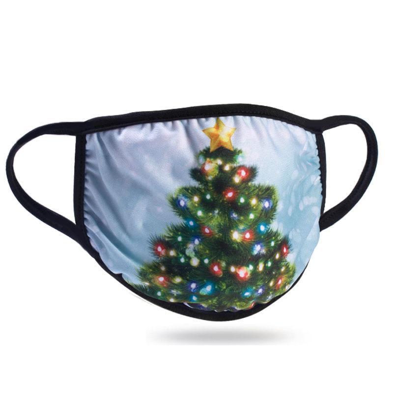 DHL LED Masque Masques Designer de Noël Décorations de Noël Coton Masque Crème solaire anti-poussière Type d'oreille Hanging Masques lumineux PPF2450
