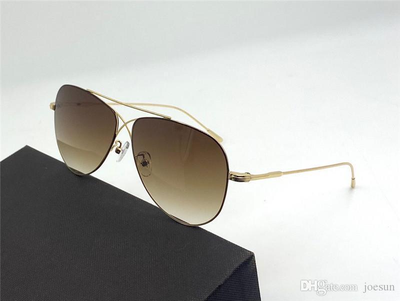 Новые моды дизайн солнцезащитные очки 0896 пилот простые металлические рамки популярный модный стиль высочайшего качества UV400 объектив защитные очки