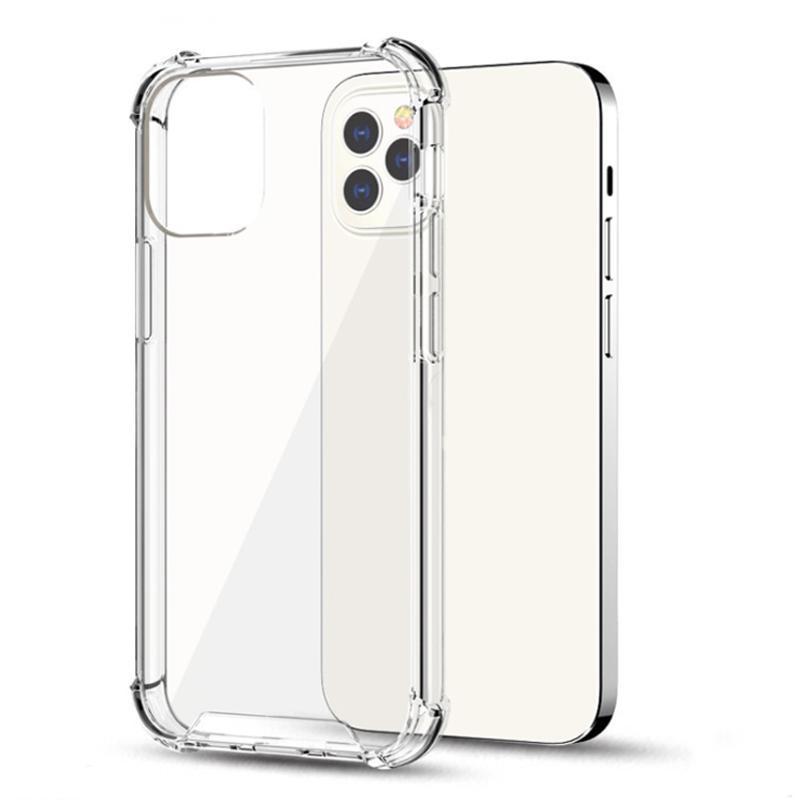 Pour iPhone 13 12 11 PRO 7 8 6 6 6S Plus TPU TPU TRANSPARENT + Étuis de couverture arrière