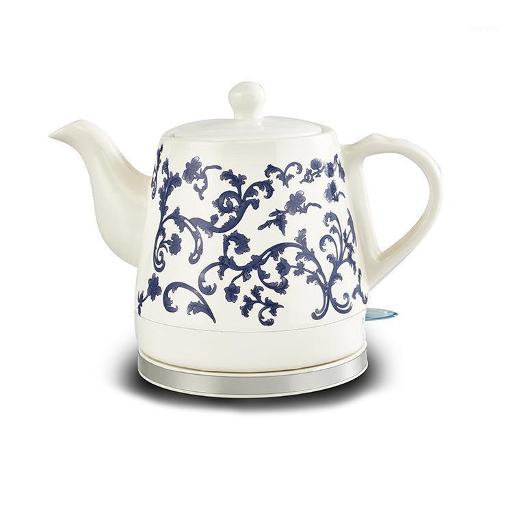 Electric Kettles Ceramic Kettle Color Blue And White Porcelain 220V 1200W 1.2L1