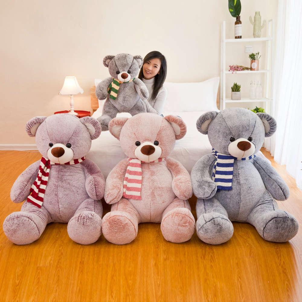 Peluche juguete grande muñeca linda colorido oso de peluche de peluche regalo para la novia