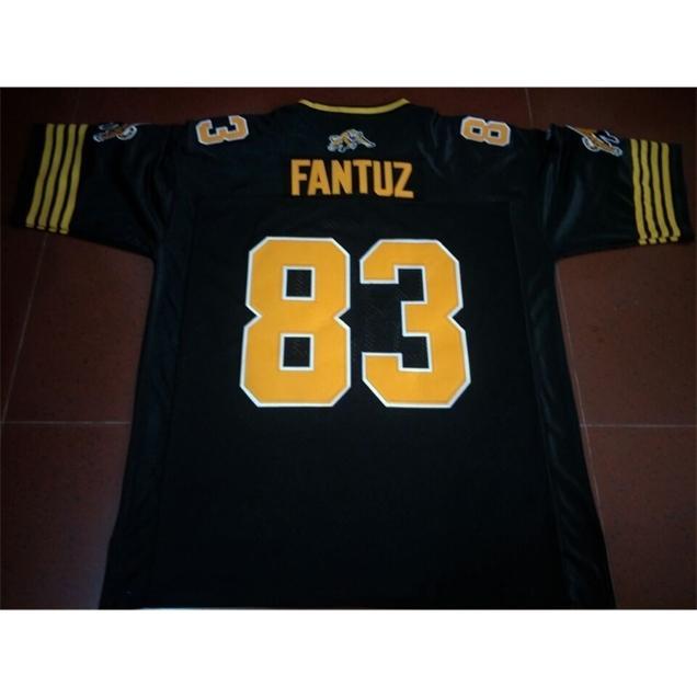 Benutzerdefinierte 421 Jugendfrauen Vintage Hamilton Tiger-Cats # 83 Andy Fantuz Football Jersey Größe S-4XL oder benutzerdefinierte Neiner Name oder Nummer Jersey