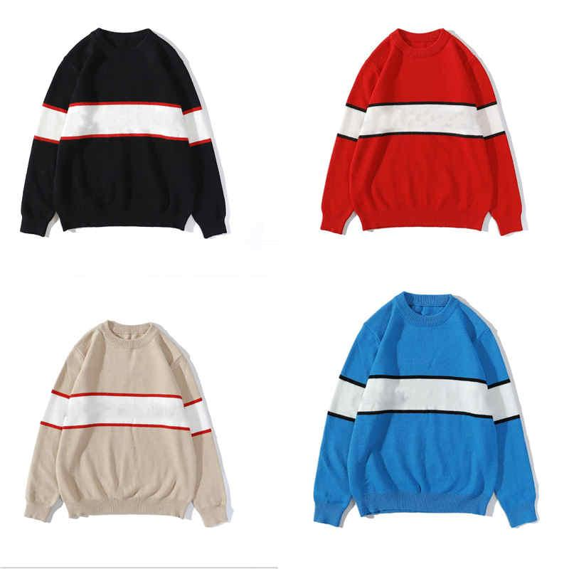 Mens Novelty Sweater Striped Pattern Classic Stitching Sweatshirts Letter Printing Pullover hoodied Multiple Colors Men Women Hoodies