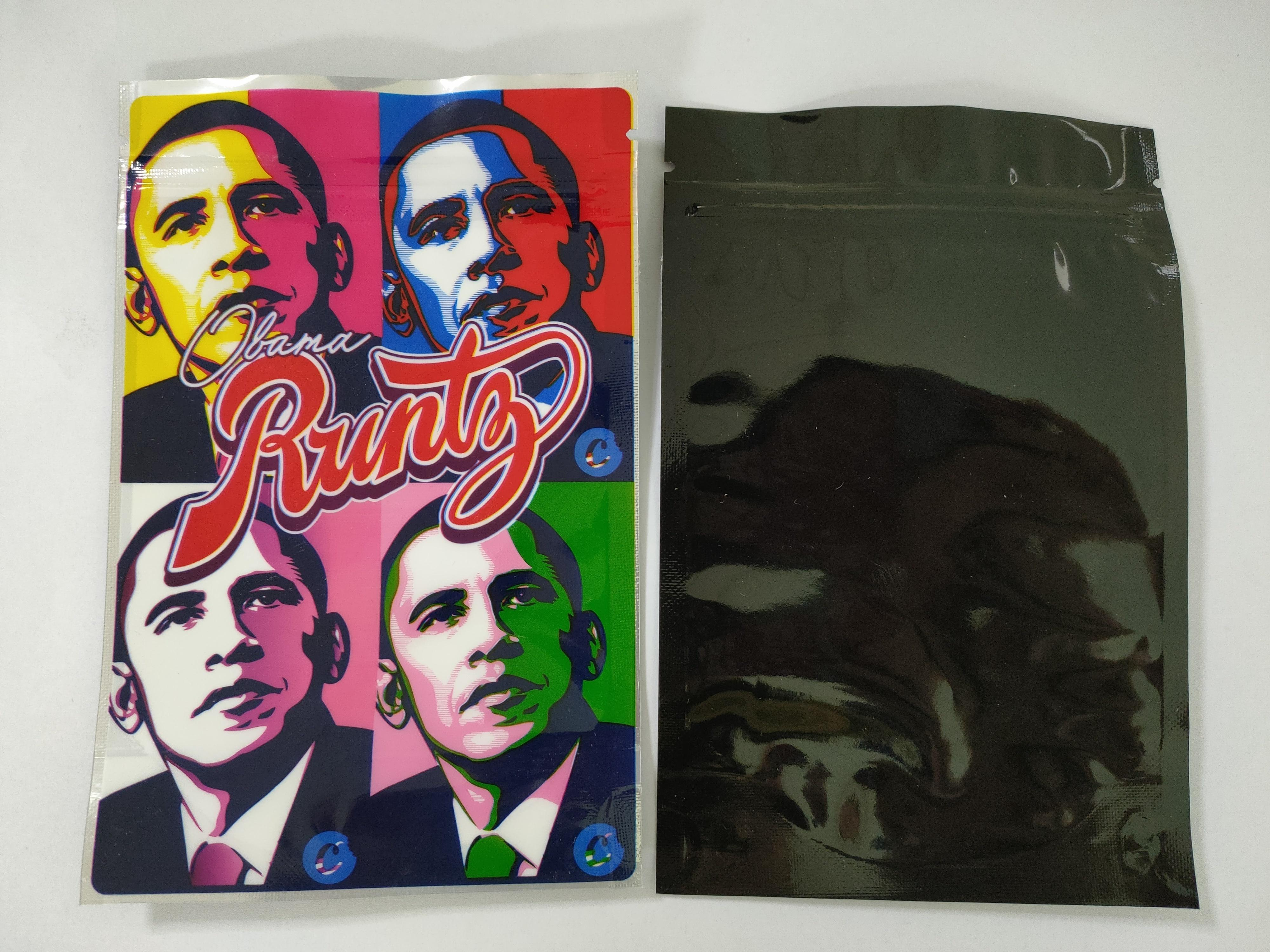 Obama Runtz Mylar Bag 3.5g Joker Up Retail Packaging Wonka Dank Gummies Chuckles Jungle Boys Package Bag Zipper Bag Vape Food Storage Bags