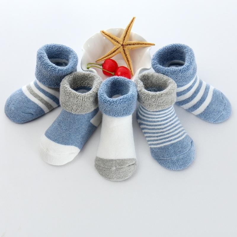 5 Pairs/lot cute Infant Baby boy girl Socks Cotton Newborn Boy Girl Toddler Socks Baby Accessories Y201009