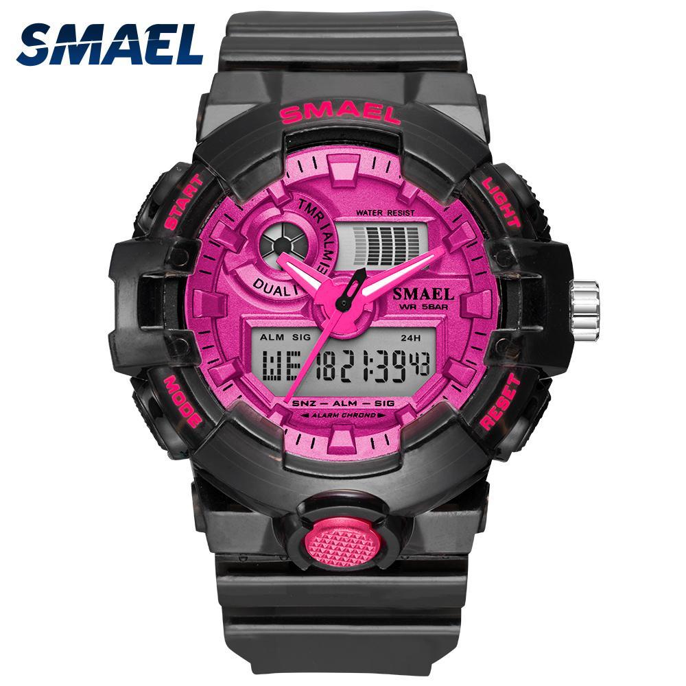 NEW SMAEL Women's and Men's Watches Sport Watch Clock Couple Digital Wrist Watch 8023 Waterproof erkek saat LED Clock Gift 201114