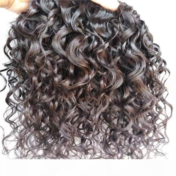 Brezilyalı Bakire Saç Klip İnsan Saç Uzantıları Vücut Dalga Saç Atkı Doğal Siyah Renk 9 adet 1 takım