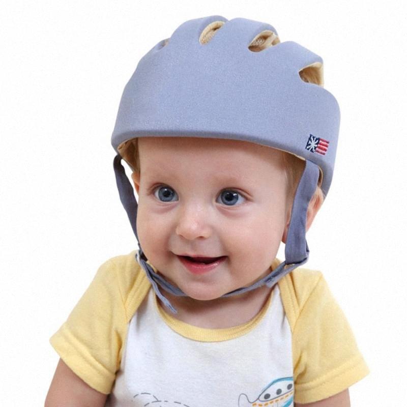 Nuevo bebé casco de seguridad casco de protección de los niños a aprender a caminar de anti-colisión niños del sombrero infantil del casquillo de protección para Niños Niñas ARmn #