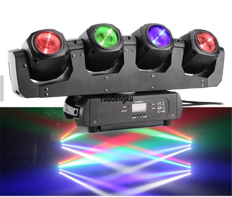6pcs 4x32w led bar dj lyre moving head beam wash rgbw 4in1 pixel moving head dj disco wash light