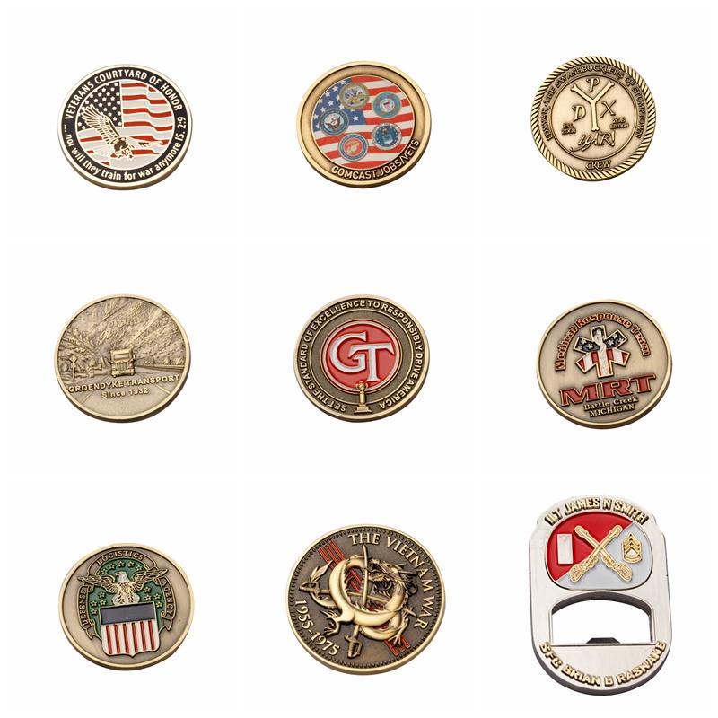 US-Armee-Metallabzeichen US-Armee-Abzeichen Gedenkmedaille gemalten Flaggenmedaille Gedenkmünzsammlung Geschenk-Party-Favoriten Kundenspezifische VTKY2064